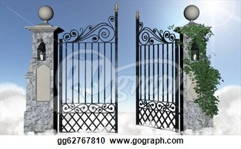 Heaven S Gate Clipart - Clipart Suggest Open Gates Of Heaven Drawing