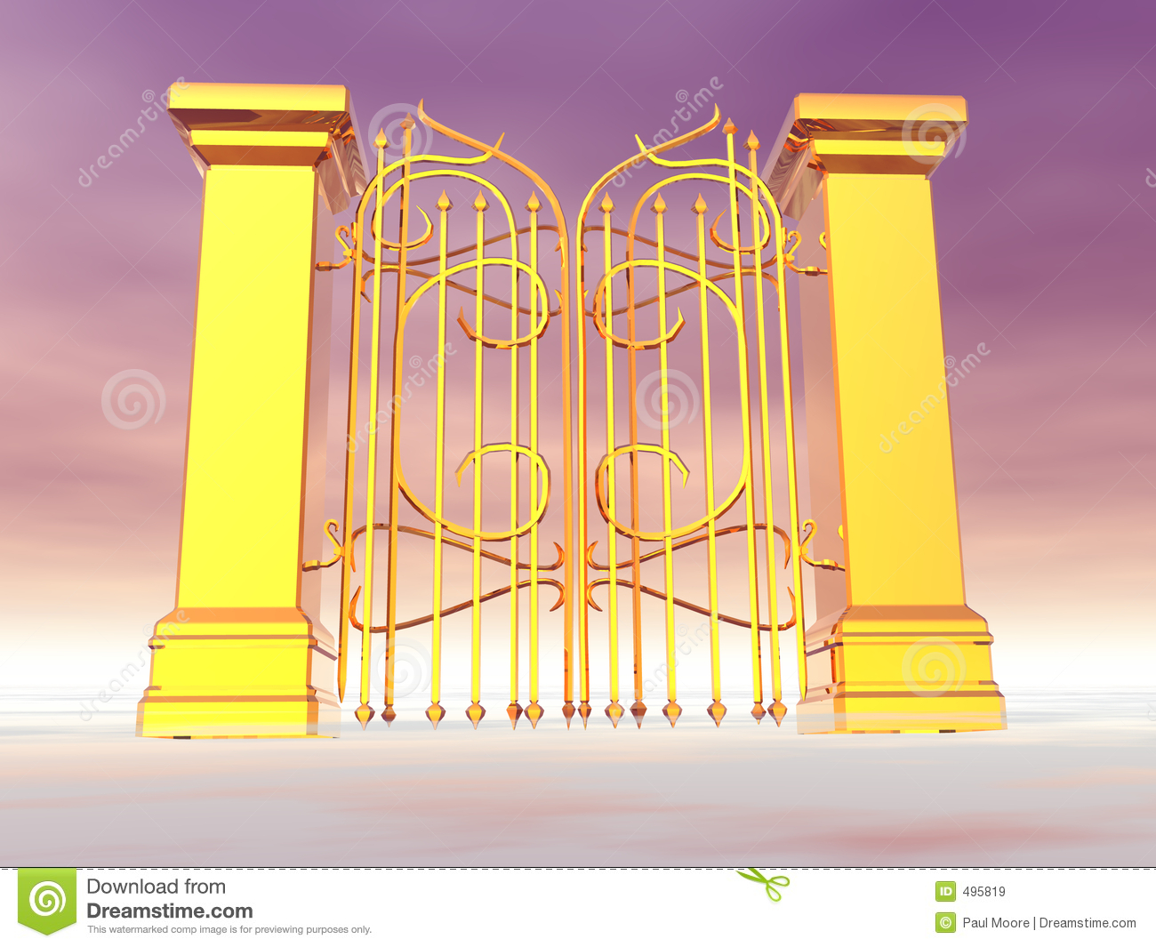 Heaven S Gate Royalty Free Stock Images   Image  495819