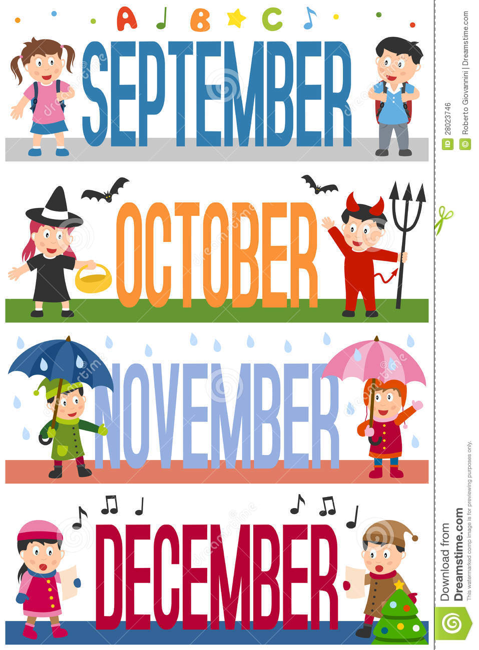 Months September October November And December  Eps File Available