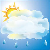 Partly Sunny Clipart Image Day In The Country As Sun Pictures