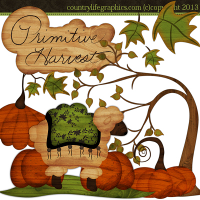Primitive Harvest Clipart