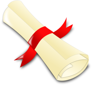 Rolled Diploma Clip Art At Clker Com   Vector Clip Art Online Royalty