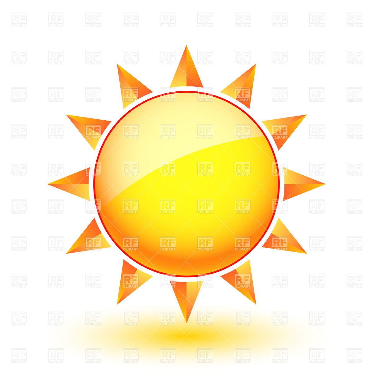 Sun Icon   Sunny Weather 6996 Icons And Emblems Download Royalty