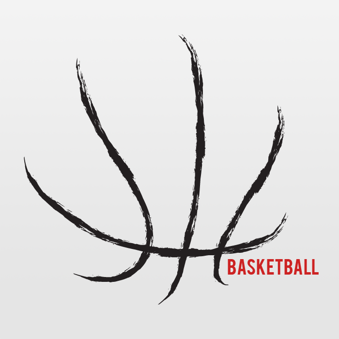 Basketball Basketball Outline In Vector Format Can Be Up Scaled To Any