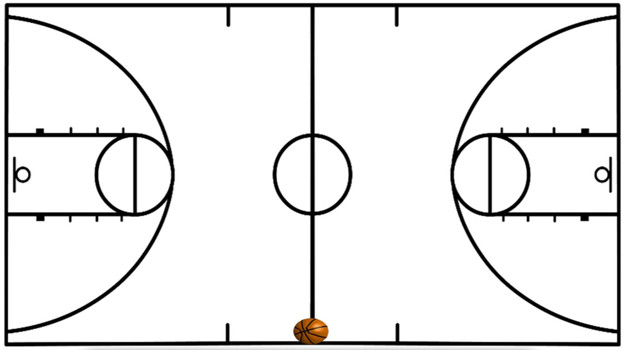 Basketball Court Outline   Free Cliparts That You Can Download To