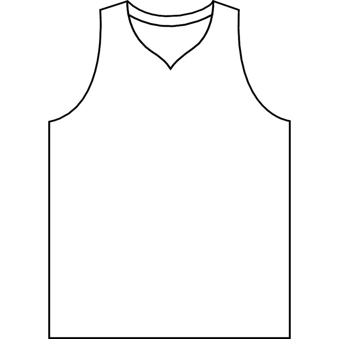 Basketball Jersey Vector Outline   Download At Vectorportal