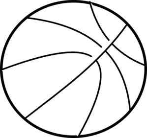 Basketball Outline Clip Art At Clker Com   Vector Clip Art Online