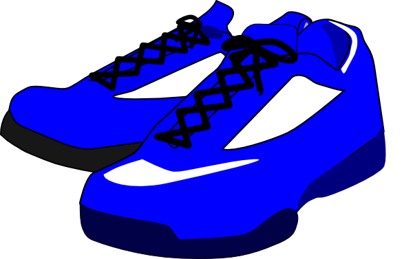 Blue Shoes Clip Art At Clker Com   Vector Clip Art Online Royalty