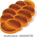 Bread Clip Art Vector Braided Yeast Bread   28 Graphics   Clipart Me