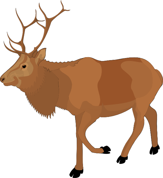 Brown Moose Clip Art At Clker Com   Vector Clip Art Online Royalty
