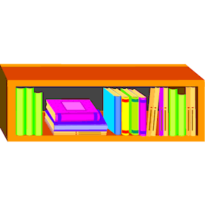 Clip Art Book Shelf Clipart Clipart Suggest