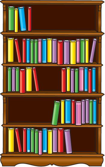 Bookshelf Clipart - Clipart Kid