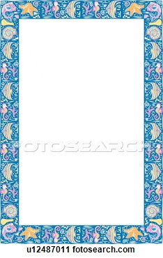 Clipart   Fiesta Illustration Of Tropical Fish And Sea Creature Border