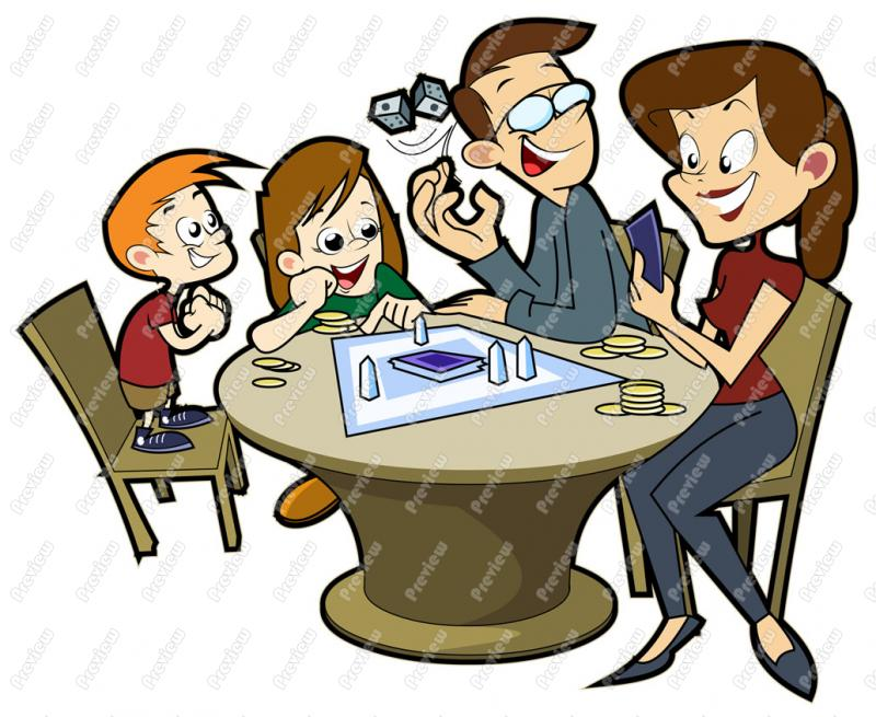 Family Playing Games Together Clip Art Family Playing