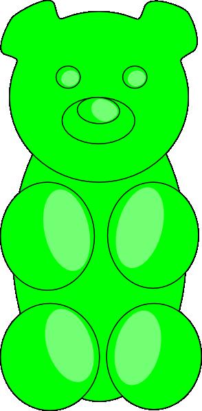 Clip Art Gummy Bear Clip Art gummy bear chocolate clipart kid green clip art at clker com vector online