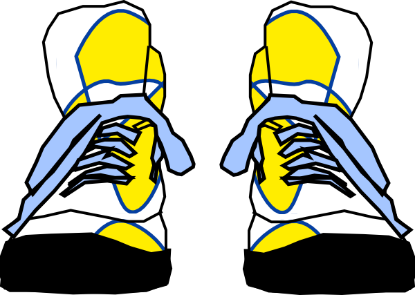 Clip Art Sneakers Clipart clip art tennis shoes clipart kid hightop sneakers at clker com vector online