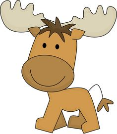 Cute Moose Clipart - C...