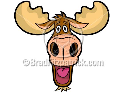 Moose Clipart Cartoon Images   Clipart Panda   Free Clipart Images