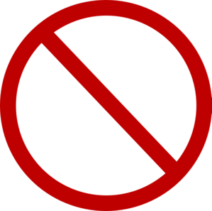 No Sign Clip Art At Clker Com   Vector Clip Art Online Royalty Free