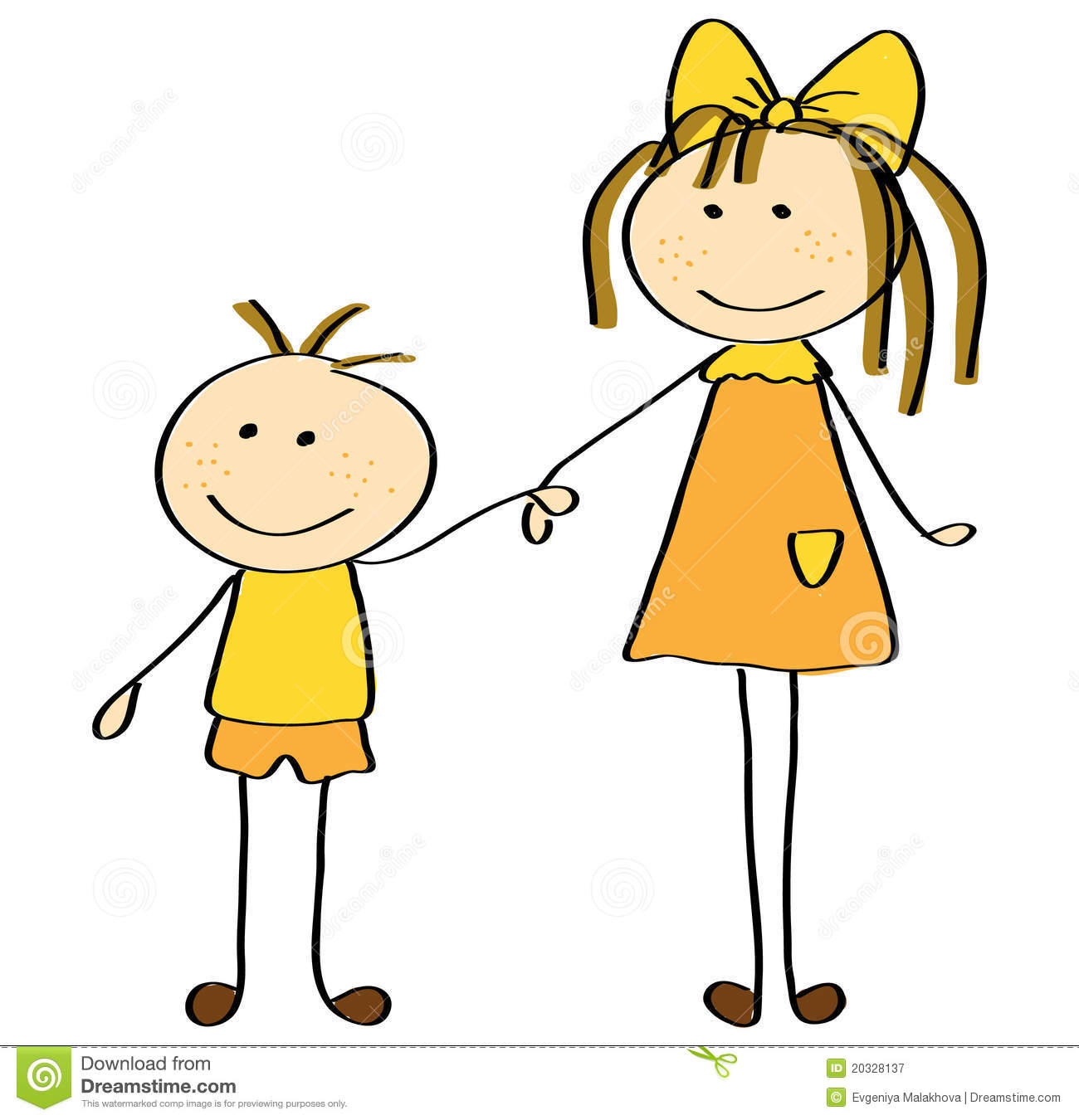 Royalty Free Stock Photography  Sister And Brother