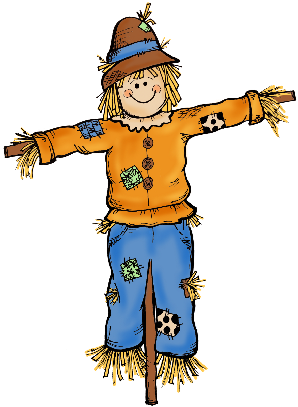 Scarecrow Face Clipart - Clipart Suggest