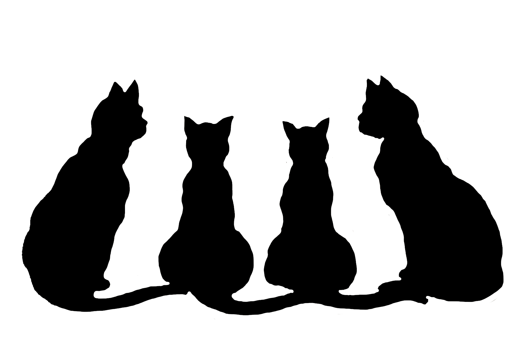 Silhouette Of Kitten Png Black Silhouette Of Cat Png Fat Black Cat