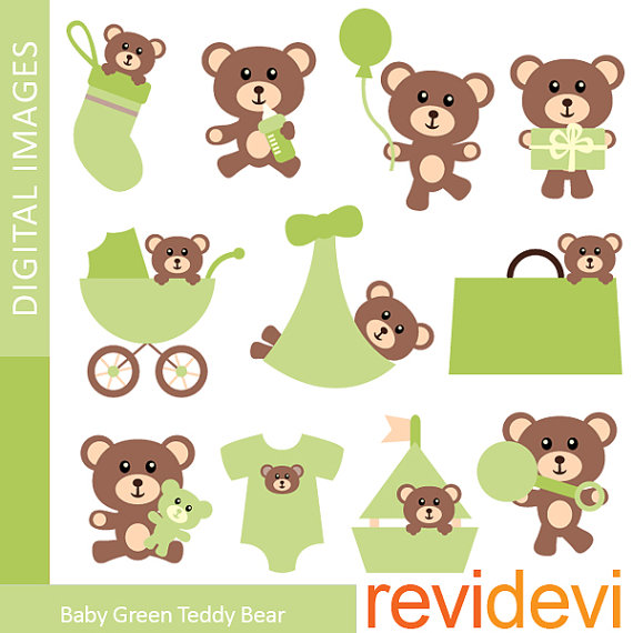 80  Off Sale Baby Green Teddy Bear 07358   Commercial By Revidevi