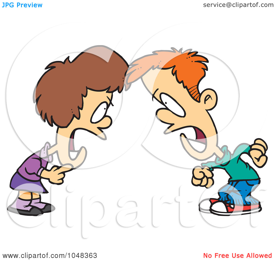 Argument Clipart Royalty Free Rf Clip Art Illustration Of A Cartoon