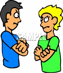 Argument Clipart Two Angry Boys Arguing Royalty Free Clipart Picture