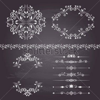 Border Frames And Dividers In White Color  Page Decoration  Vector