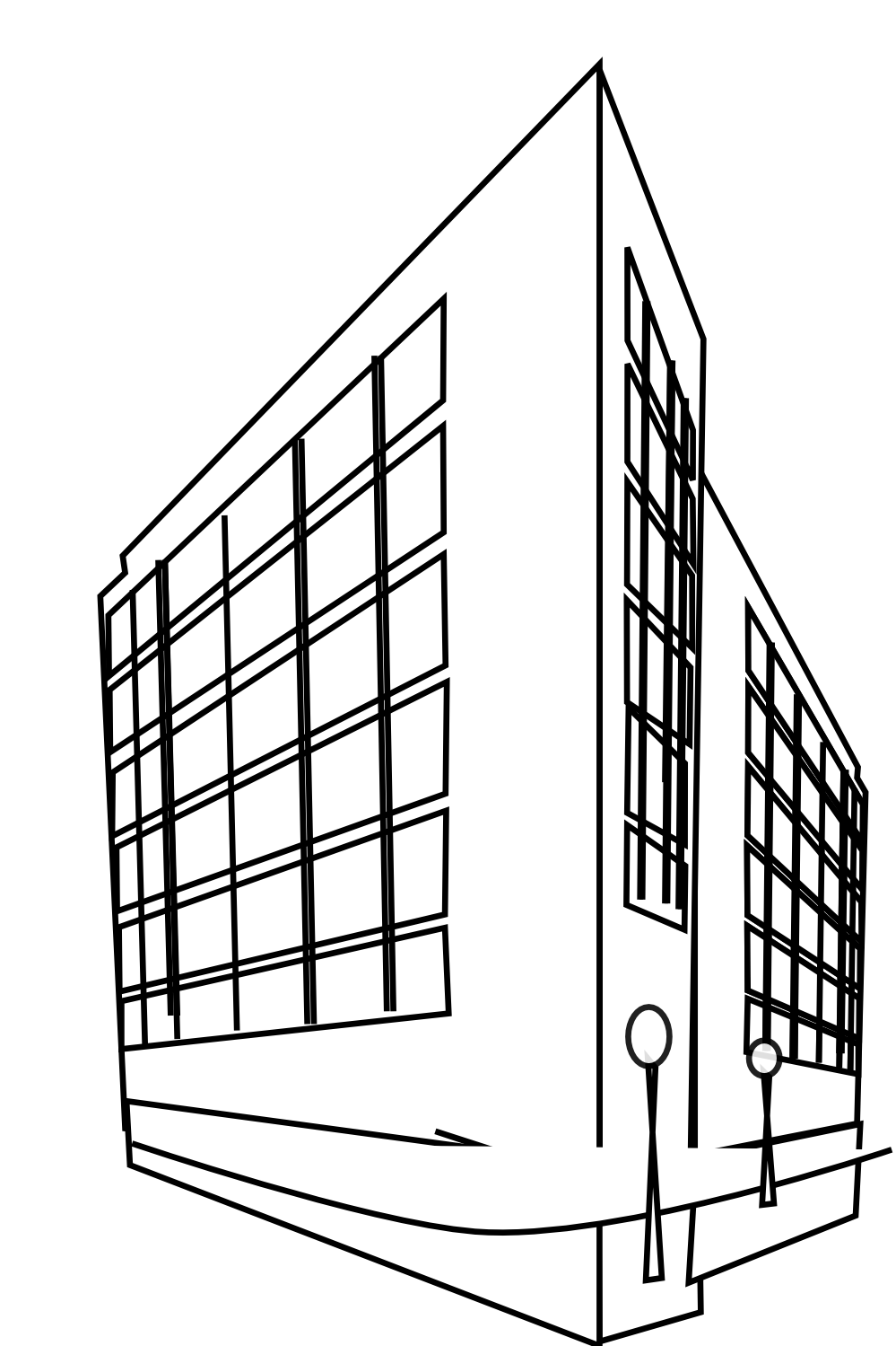 Building Clipart Black And White Commercial Building Black White