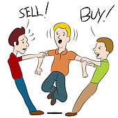 Buy Sell Argument   Clipart Graphic