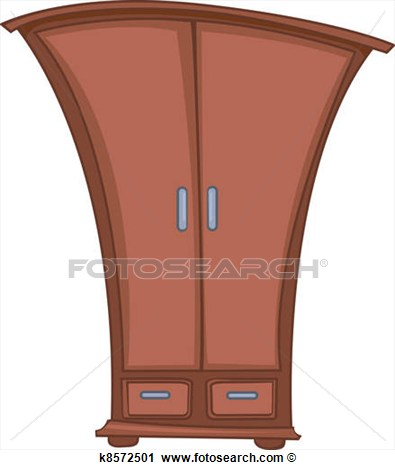 Clipart Of Cartoon Home Furniture Wardrobe K8572501   Search Clip Art