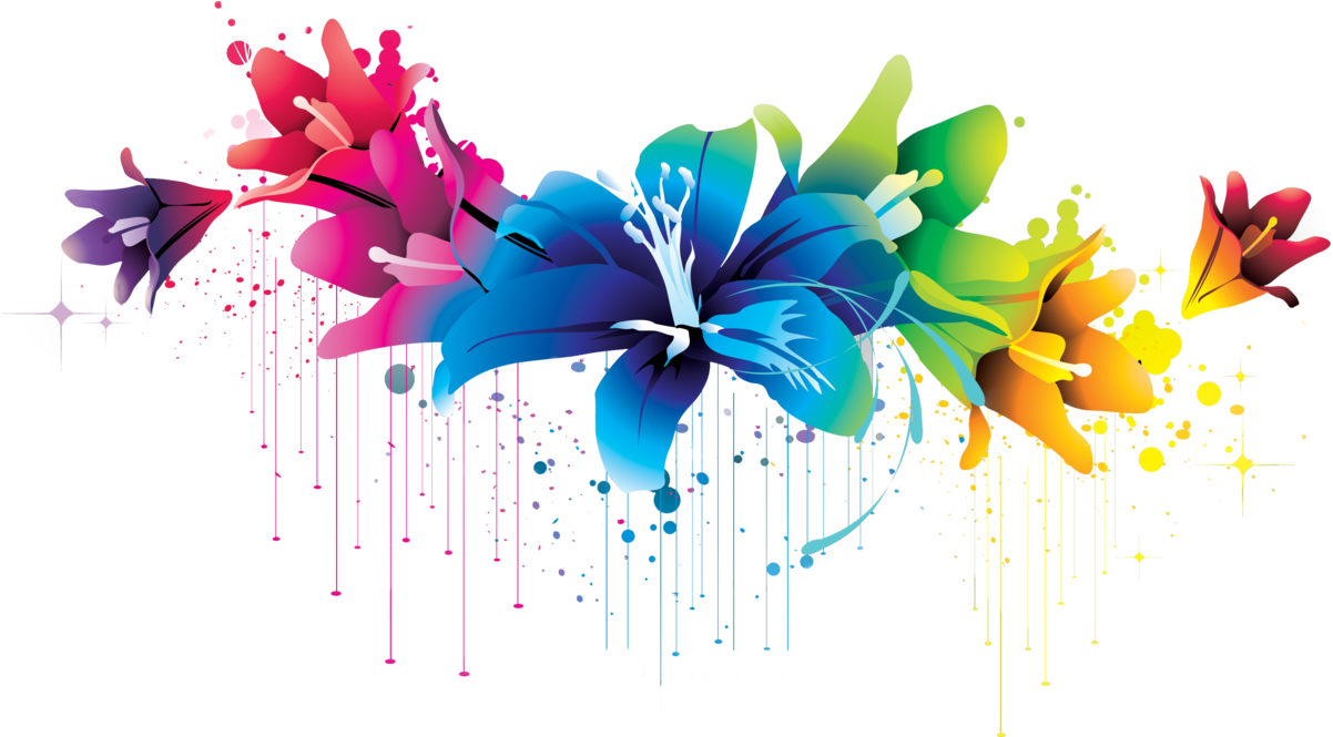 Colorful Flower Vector Clipart Png 02 By Briellefantasy On Deviantart