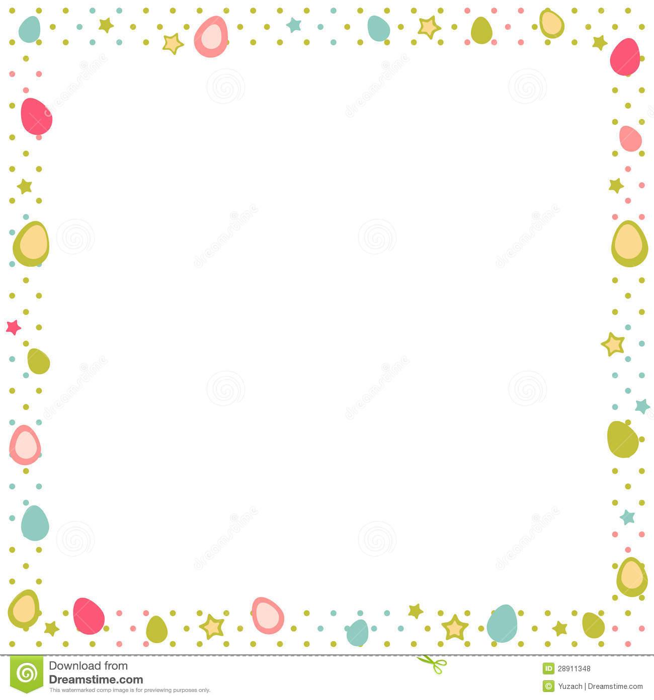 Polka Dot Frame Border Clipart - Clipart Kid