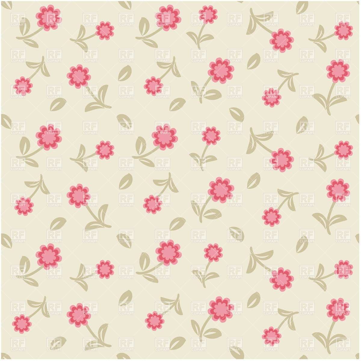 Floral Seamless Background Download Royalty Free Vector Clipart  Eps