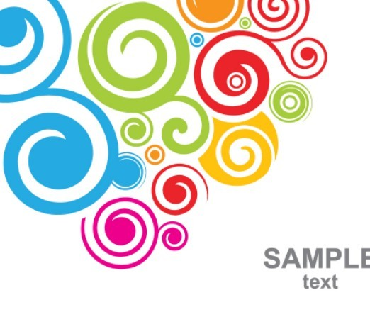 Free Retro Vector Color Swirls 03   Titanui
