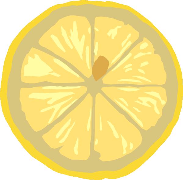 Lemon Slice Clip Art At Clker Com   Vector Clip Art Online Royalty
