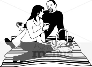 Lunch Clipart The Man And Woman Share Picnic Lunch Design Is Part Of