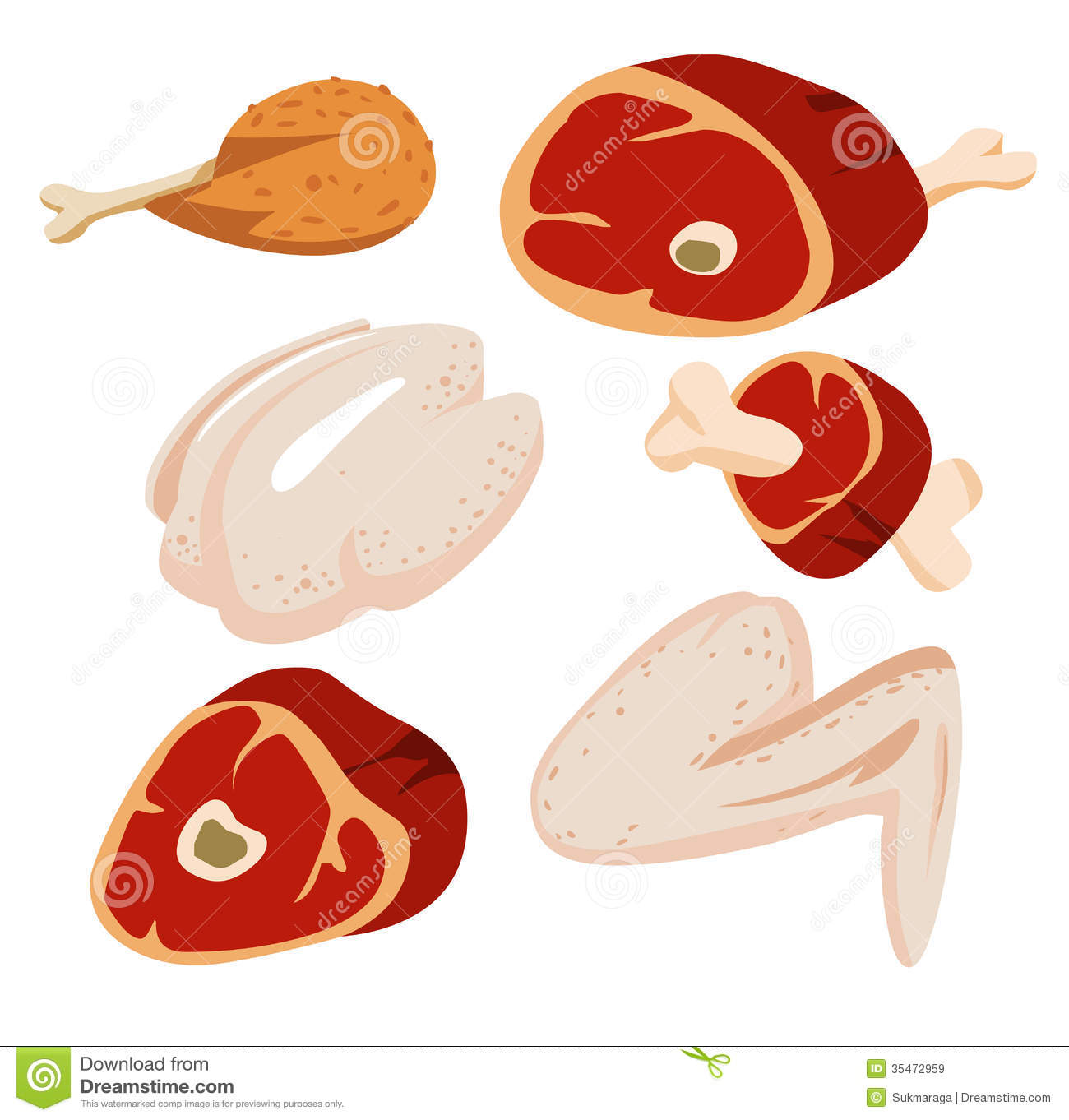 raw meat clipart - photo #23