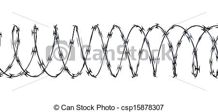 Of Razor Wire On An Isolated White    Csp15878307   Search Clipart
