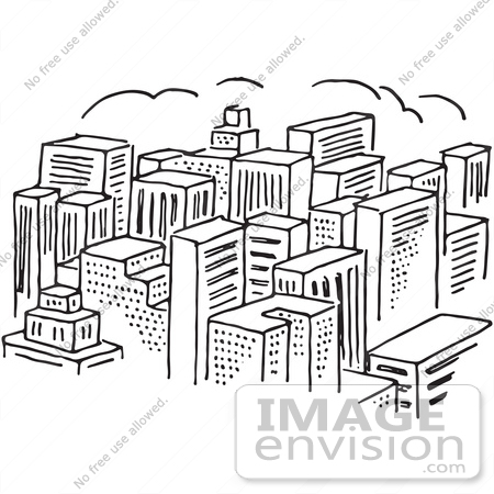 Office Building Clipart Black And White Skyscraper Clipart Black And