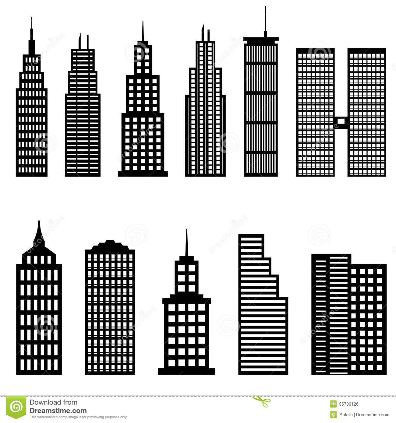 Office Building Black And White Clipart Clipart Kid