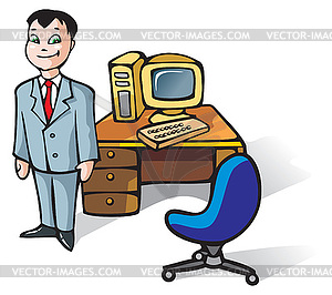 Office Clerk   Vector Clip Art