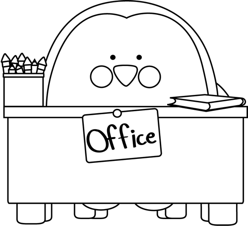 Office Clipart Black And White Black And White Office Penguin
