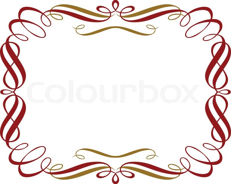 Retro Red Gold Border   Vector   Colourbox