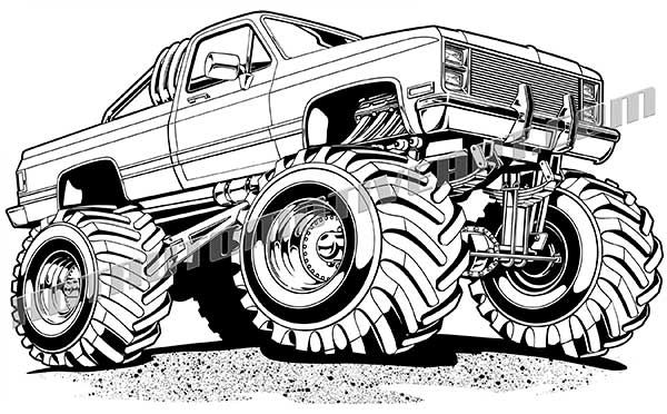 Chevy Truck Clipart Clipart Suggest