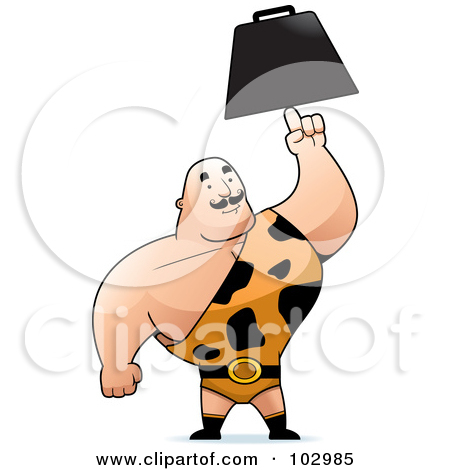 Royalty Free  Rf  Clipart Illustration Of A Strong Man In A Spotted