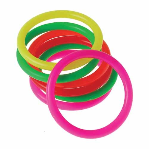Small Neon Carnival Ring Toss Rings   Party Supply Store   Novelty