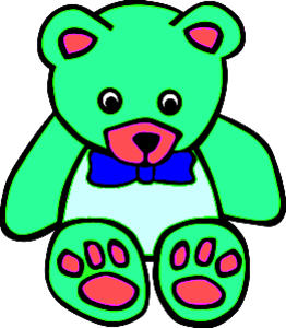 Surf Green Teddy Bear Clipart   Free Images At Clker Com   Vector Clip